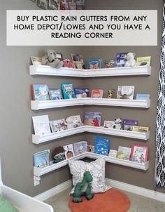 very cute book shelf in corner