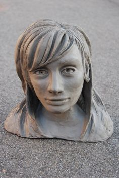 Clay portrait, experimenting with new mediums. A-Level.
