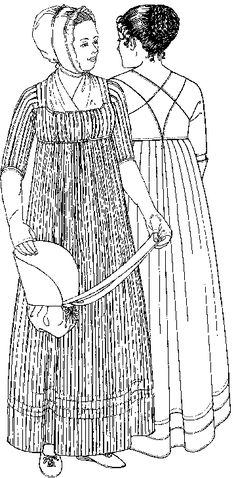 A pattern for the working class Regency lady. You can dress yourself - how novel!