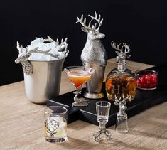 Stag Etched Double Old Fashioned Glass, Set of 4 Old Fashioned Love, Old Fashioned Christmas, Branded Gifts, Christmas Love, Hostess Gifts, Seasonal Decor, Home Furniture, Outdoor Furniture, Glass Bottles