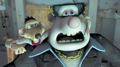 Spike and Whitey are the (former) tertiary antagonists of Flushed Away. They are voiced by Andy Serkis and Bill Nighy respectively. Childhood Movies, My Childhood, Dreamworks Animation Skg, Flushed Away, Clay Animation, Bill Nighy, Beloved Movie, Shaun The Sheep, Chicken Runs