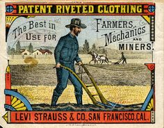 Vintage jeans are denim pants originating from a previous era. Learn more about vintage levi's, Lee, Wrangler, and other iconic denim jean brands. Historical jeans are important to the history of clothing. History Of Jeans, Levis Vintage, Mechanic Jobs, Old Signs, Vintage Labels, Vintage Logos, Vintage Graphic, Vintage Stuff, Levi Strauss & Co