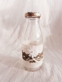 Frasco rústico reciclado/ Handmade rustic jar