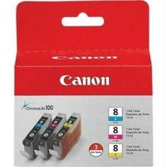 Canon Usa Canon Cli-8 3 Pack C-m-y Value Pack - Ink - Cartridge - For Pro9000, Pro9000 Mar