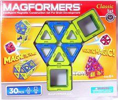 Magformers Classic 30 piece Blue-Green set 630686 - Toysheik