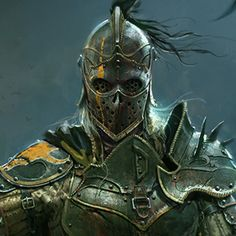 Concept art done for Apollyon in Ubisoft's For Honor