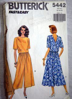 Vintage Butterick 5442  Fast and Easy by VintagePatternsPlus, $8.00