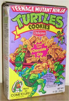 Teenage Mutant Ninja Turtles Cookies. I remember these.