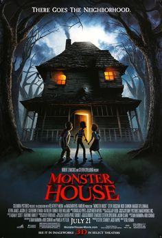 """Monster House (2006) Vintage Advance Movie Poster - 27"""" x 40"""""""