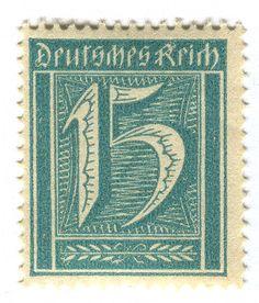 Germany Postage Stamp: Deutsches Reich  c.1922  Designed by Willi Geiger