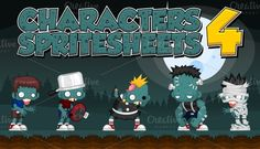Check out Characters Spritesheet 4 by pzUH on Creative Market
