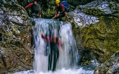 Ab ins eiskalte #Wasser beim #Canyoning © Adventure Club Kaiserwinkl Waterfall, Outdoor, Road Trip Destinations, Travel Advice, Water, Viajes, Outdoors, Waterfalls, Outdoor Games