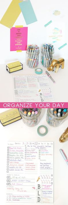 The days go quickly—too quickly. My first tip for making the most of your time is a well organized list. You can scoff, you can try 500 different to-do list apps—-but I'm willing to bet that when it comes down to it—-seeing your list, goals, and appointme Do It Yourself Organization, Planner Organization, School Organization, Organizing Life, Ideas Para Organizar, Organize Your Life, Life Planner, Planner Ideas, Weekly Planner