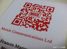 MOXIE QR Code Business Cards