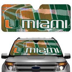 Miami Hurricanes Auto Sun Shade
