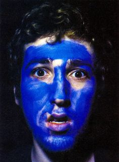 Thomas Bangalter has the prettiest blue face