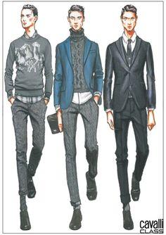 Cavalli Class Menswear Fall Winter 2014 Milan - NOWFASHION