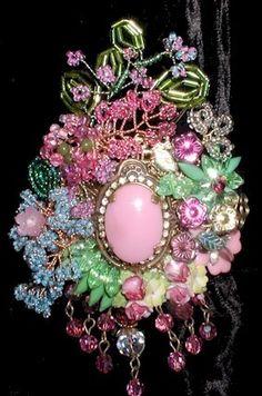 English Garden Hinged Cuff Bracelet     by ThePurpleHouse on Etsy, $265.00
