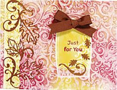 Autumn Splendor Dazzles™ Copper by Hot Off The Press Inc (PaperWishes.com 4001884). Card also uses Color Me Paper.