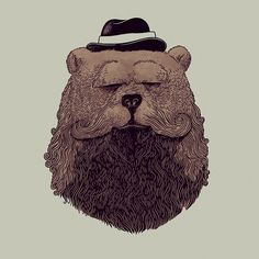 Grizzly Beard #alexmdc #oddworx #illustration by ALEX SOLIS, via Flickr