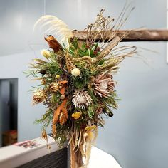 DIRED WEDDING ARCHWAY FLOWERS F l o r a l S t y l i s t  (@pebbleanddot) Dried archway flowers from last months @nelsonnuptials wedding fair - Arch from @gkeventshire ♡ Wedding Fair, Wedding Flowers, Wreaths, Fall, Arch, Home Decor, Autumn, Longbow, Decoration Home