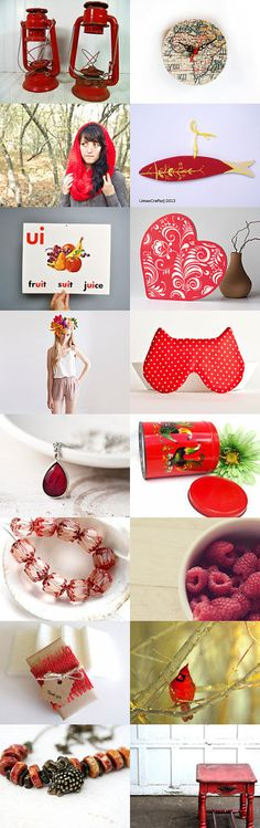 Red hot! by Anna Soghomonyan on Etsy--Pinned with TreasuryPin.com
