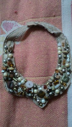 Neutral Fabric Necklace--$15 (Put together with snaps also! Email if interested!)