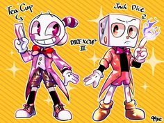 Tea cup and Jack dice King Cup, Deal With The Devil, Cool Art, Awesome Art, Bendy And The Ink Machine, Indie Games, Fanart, Color Theory, Fun Games
