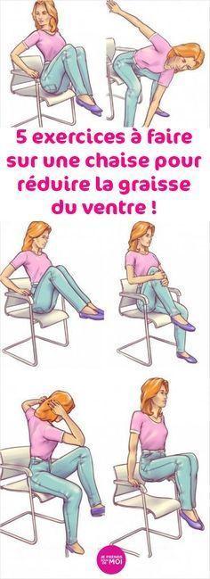 5 exercices à faire sur une chaise pour réduire la graisse du ventre !