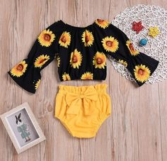 Baby Girls' Active / Basic Going out / Beach Print Print Long Sleeve Short Short Cotton / Polyester Clothing Set Yellow / Toddler Source by girl clothes Baby Girls, Cute Baby Girl Outfits, Baby Outfits Newborn, My Baby Girl, Baby Love, Kids Outfits, Baby Set, Beach Outfits, Beach Dresses