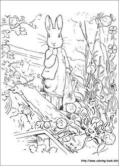 Peter Rabbit coloring picture  crafty kids  Pinterest  Coloring
