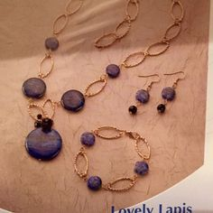Lapis jewelry kit Bead of the month, lapis jewelry kit, never opened, materials and instructions included Jewelry