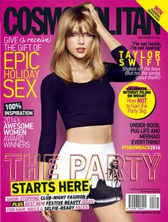 Taylor is on the cover of Cosmopolitan around the WORLD in December! Check out a few of the newly released pictures.