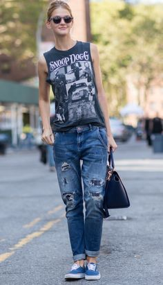 98 best 2015 style trends images on pinterest casual wear dressing down loving graphic teescarrie nyfw spring 2015 street style fandeluxe Images