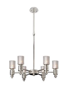 Features:  -Ashington collection.  -Finish: Polished satin nickel.  -Style: Contemporary.  -Rated for indoor locations.  -Accommodates 6 x 60W candelabra bulb (not included).  -UL, cUL listed.  Fixtur
