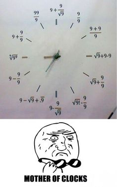 I may never tell time if all clock became THAT! ( I absolutely hate math)