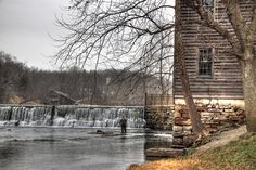 This is Jolly Mill, Missouri. I discovered this place in a book called Alive After New Year by Hannah Alexander. I had never heard of this place, and I live in Missouri!