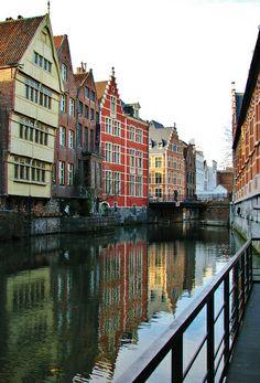 Reflecties in de Lieve, Gent,  Belgium