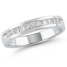 14k Yellow or White Gold Princess-Cut Diamond Anniversary Band (1.00 cttw, H-I Color, I1-I2 Clarity)