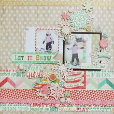 Let It Snow *New Crate Paper* by meganklauer @Two Peas in a Bucket