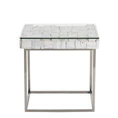 Caspian - Chill Side Table (Distressed White) | Occasional Tables | Dining Room