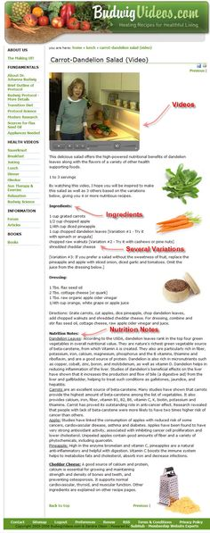 Sample Budwig Diet Recipe Pages - Budwig Videos - Flax Seed Oil Recipes for a Healing Diet