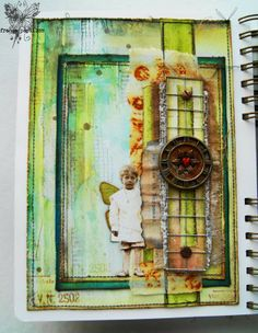 Mixed Media Place challenge: Sadness ~ france papillon