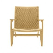 front view of the woven CH25 Paddle Chair on a white background