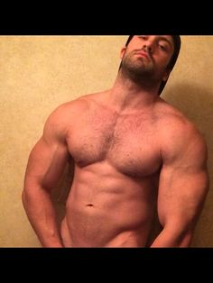 hairy and beefy Big Biceps, Muscle Hunks, Hairy Men, Work Hard, Hot Guys, Bodybuilding, Handsome, Boys, Swimwear