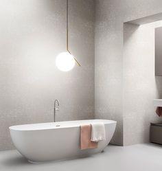 Carte da parati in fibra di vetro e waterproof Arblu Decor, Wallpaper, Print Design, Bathroom Wall Decor, Bathroom Update, Glass, Fiberglass, Bathtub