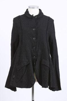 rundholz - Jacke in ausgestellter Form black pinstripe - Winter 2016