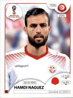 Hamdi Nagguez - Tunísia World Cup Russia 2018, World Cup 2018, Fifa World Cup, Zamalek Sc, Jersey Atletico Madrid, Football Stickers, Vignettes, Baseball Cards, Sports
