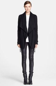Helmut Lang 'Sonar' Draped Wool Jacket | Nordstrom