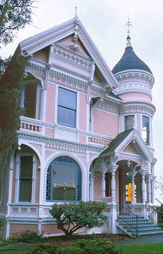 pink victorian home